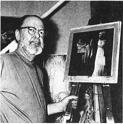 Portrait de Virgil Finlay réalisé en 1969