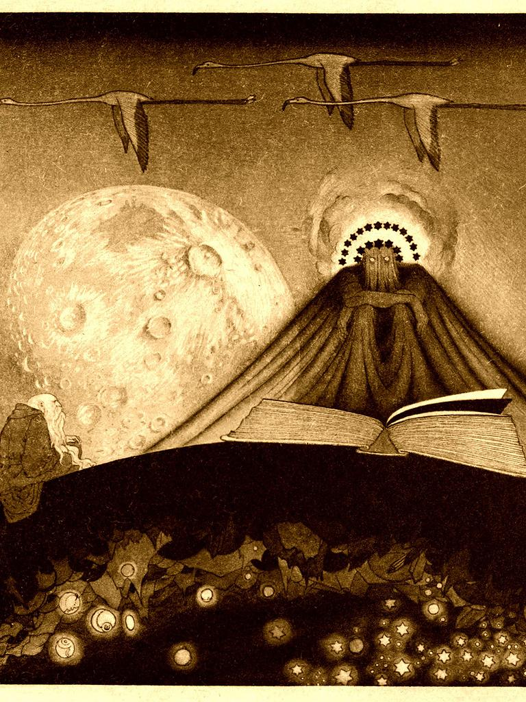 "Illustration de ""It"", de Lord Dunsany, par Sidney Sime"