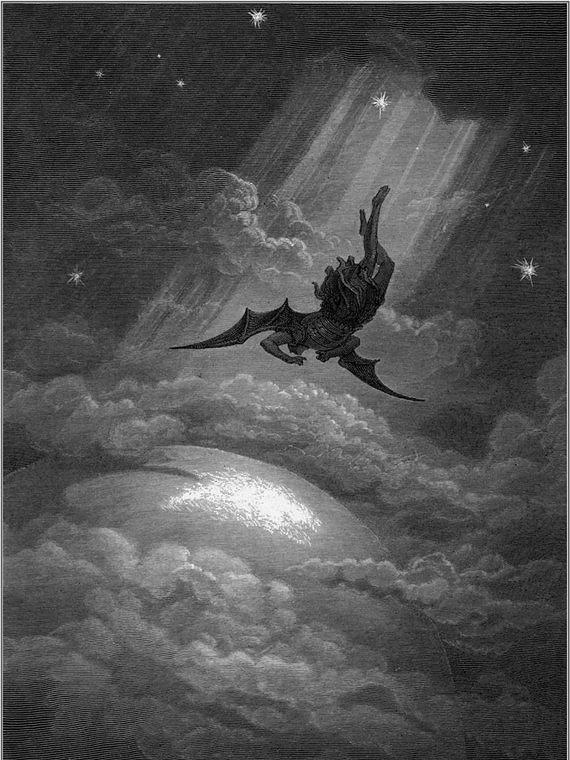 Satan dans le Paradis Perdu (illustration), par Gustave Doré