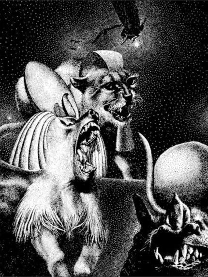 Le Dieu sans Visage (illustration), par Virgil Finlay