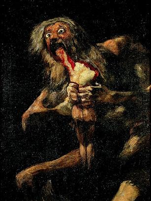 Saturne dévorant l'un de ses enfants, par Goya